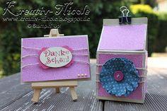 Ein #Set bestehend aus einer #Karte und einer #Box, die mit dem #EPB gemacht wurde. Alle #Produkte von #StampinUp!. #KreativNicole