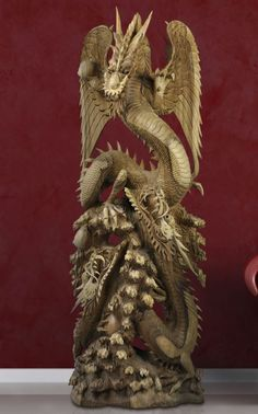 Dragon, a wood carving