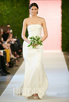 Brides.com: Oscar de la Renta - Spring 2015. Wedding dress by Oscar de la Renta