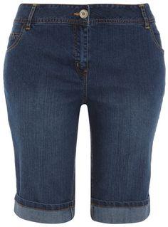 Evans Indigo denim shorts        Price: £16.00