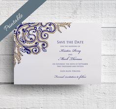 Indian Wedding Save the Date by EdenWeddingStudio on Etsy https://www.etsy.com/listing/194504317/indian-wedding-save-the-date