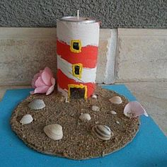 Art from souvenirs Summer Camp Themes, Beach Themes, Summer Fun, Art Activities, Summer Activities, Sea Crafts, Diy And Crafts, Lighthouse Keepers Lunch, Diy For Kids