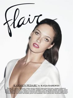 Katja Rahlwes photographs Karman Pedaru for the cover of Flair, styled by Sissy Vian. Cover makeup done by Christine Corbel with the inside story by Georgina Graham, Spring/Summer 2013 Production: www.