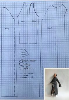 Sewing Barbie Clothes, Barbie Sewing Patterns, Doll Dress Patterns, Sewing Dolls, Barbie Kleidungsmuster, Barbie Dress, Barbie House, Made To Move Barbie, Barbie Basics