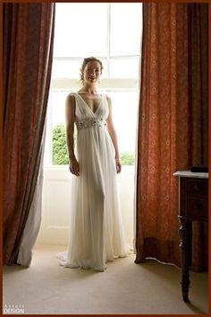 greek goddess wedding dress by marie.danielle.188
