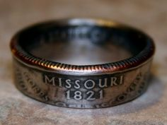 This Missouri State Quarter Coin Ring