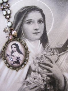 Vintage Assemblage St. Therese Necklace by angeliquesboutique8, $52.00