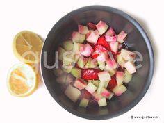 Préparation Coulis de fraises et rhubarbe - étape 3