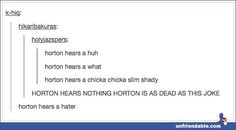 Horton Hears a Hater
