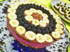 HandsoffmyFOOD!: SKINNY SINNER: Nog maar eens een #bosbessentaart met #chocolade on top. #suikervrij #raw