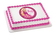 Barbie All Dolled Up - Edible Image Cake / Cupcake Topper Personalized Licensed Icing / Frosting Sheet