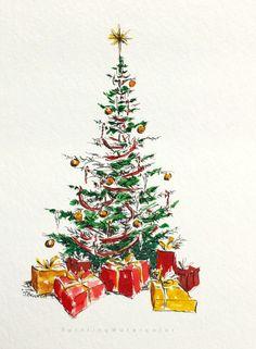 Diy christmas cards 142918988158580611 - Christmas Card Tree 3 Source by kjcolson Painted Christmas Cards, Diy Christmas Garland, Watercolor Christmas Cards, Christmas Tree Cards, Noel Christmas, Christmas Colors, Watercolor Cards, Xmas Cards, Vintage Christmas