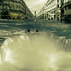Surreal Digital Art - The Street Fall by Marian Voicu Surreal Artwork, Sombre, Photo Manipulation, Art For Sale, Unique Art, Les Oeuvres, Home Art, Surrealism, Wall Art Decor