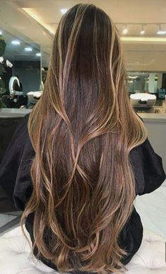 Long Hair Tips, Curls For Long Hair, Grow Long Hair, Hair Growing, Round Face Hairstyles Long, Haircuts For Long Hair, Balayage Long Hair, Long Layered Hair, Aesthetic Hair