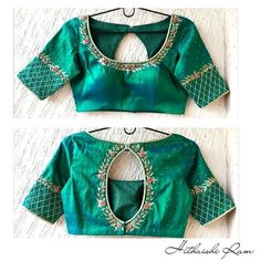 New ideas embroidery blouse designs simple thread Pattu Saree Blouse Designs, Blouse Designs Silk, Designer Blouse Patterns, Simple Blouse Designs, Stylish Blouse Design, Work Blouse, Embroidery Works, Embroidery Stitches, Embroidery Patterns