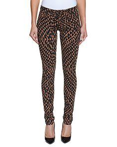 JOE'S Jeans The Skinny Beige & Black Print Skinny Leg