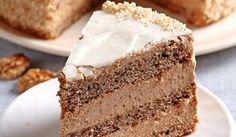 Stvorená na nedeľu: Ľahká orechová torta s kávou | DobreJedlo.sk Torte Cake, Sweet Desserts, Vanilla Cake, Nutella, Baked Goods, Mousse, Cake Recipes, Good Food, Food And Drink