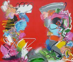 I was made for Loving you, schilderij van Marten Alkema | Abstract | Modern | Kunst
