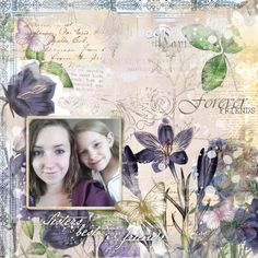 beautiful #scrapbook page by bbe at #designerdigitals #botanicals #painted #blendables