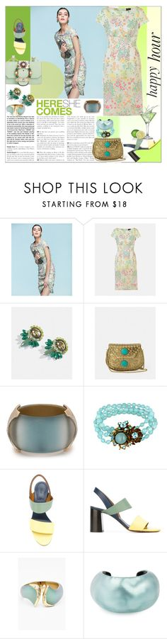 """""""Happy Hour"""" by sylandrya ❤ liked on Polyvore featuring Andrea, Alexis Bittar, Miriam Haskell, Chloé, Miu Miu and happyhour"""