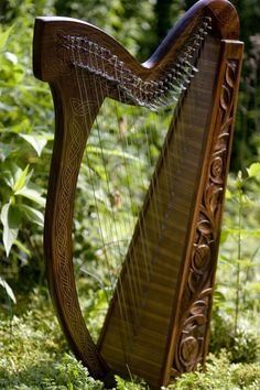 I love my beautiful Celtic harp, a very special gift from my daughter!
