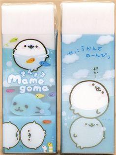 white Mamegoma seal eraser with mini seal @modes4u