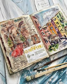 Pin by bliharzh elizabeth on smashbook/sketchbook Voyage Sketchbook, Gcse Art Sketchbook, Travel Sketchbook, Sketchbooks, Kunstjournal Inspiration, Sketchbook Inspiration, Bullet Journal Inspiration, Sketchbook Ideas, Art Journal Pages