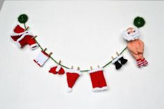 Items similar to Santa Claus crochet garland Christmas decoration Christmas gift Merry Christmas Crochet Santa Holiday garland Xmas fireplace decor on Etsy Neighbor Christmas Gifts, Neighbor Gifts, 1st Christmas, Christmas Ornaments, Crochet Santa, Christmas Crochet Patterns, Christmas Knitting, Crochet Garland, Christmas Window Decorations