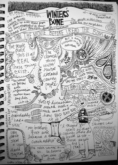 Journal page about a book she read! (This would be a great exercise for the book you are writing. Doodle it.)