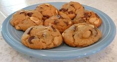 Flourless Peanutty Chocolate Chip Cookies