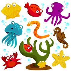 Animais-5 marinhos dos desenhos animados