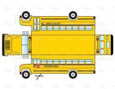 School Bus Cut Out stock vector art 11770595 - iStock