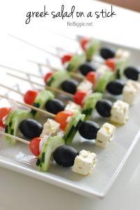 Greek salad on a stick