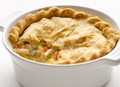 Chicken pot pie, healthy and easy.