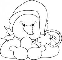 Christmas Snowman 1 - Craft Pattern