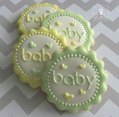One Dozen 12 Baby Medallion Decorated Sugar by DolceDesserts, $38.00
