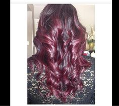 Red violet ombré #hair #ombre #goldwell Vineland, nj