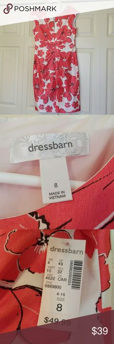 Dressbarn Dress NWT New with tags,  size 8, knee length, really nice dress to wear to a wedding or cocktail party. Dress Barn Dresses