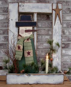 """Bing : Primitive Wood Crafts """"have the window+box that I hope to use for a auction item"""""""