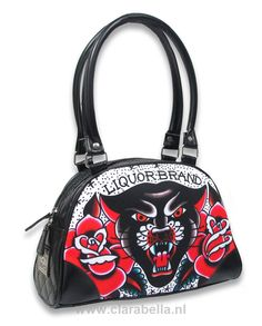 LB Black Panther Bowling Bag 1 LiquorBrand  Dimensions :   28 cm - 11 inch wide   19 cm - 7.5 inch high    Price: 365.86kr  http://www.clarabellatattoowear.com/accessories/bags/liquorbrand/bowling-bag-1/lb-black-panther-bowling-bag-1-liquorbrand/   Don't you love discounts? Don't miss out! Get YOUR personal 15% discount code: http://eepurl.com/boSy7H