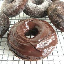 Chocolate Fudge Cake Doughnuts