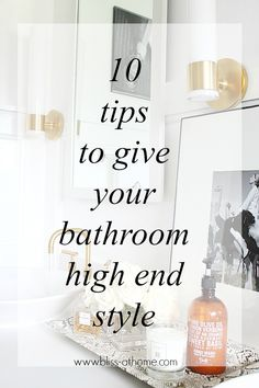 10 Tips to Give Your Bathroom High End Style: for mum at Melville Rd