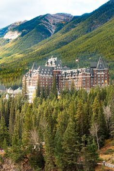 Banff, Alberta Canada - an AMAZING place!! Stay at the Fairmont Banff Springs, shop and eat in the cute downtown, visit some of the most amazing lakes on Earth. Trip of a lifetime!