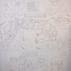 Blitzkrieg! - pág 7 (lápis) Um dos quadros mais legais que já desenhei.