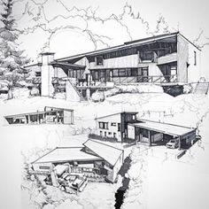 Interesting Find A Career In Architecture Ideas. Admirable Find A Career In Architecture Ideas. Architecture Design, Architecture Concept Drawings, Architecture Sketchbook, Landscape Architecture, Landscape Design, Planer Layout, Building Sketch, House Design, Instagram