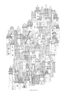 All Along The Watchtowers(lighthouses), Ireland- signed print - Jam Art Prints World Map Travel, Ireland Map, Black And White Prints, Irish Art, Aesthetic Collage, Sign Printing, Map Art, Pretty Pictures, Dublin
