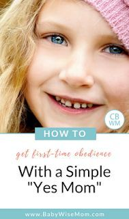 """How to Get Your Child to Obey with a Simple """"Yes Mom"""". This is a simple solution to get first time obedience. #obedience #toddlers #parenting #firsttimeobedience"""
