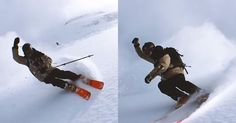 """Matrix-style """"bullet time"""" is usually created using an array of cameras placed all around a subject. Swiss professional skier Nicolas Vuignier has been tes"""