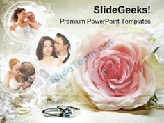 Couples Wedding PowerPoint Template 0610 Templates Themes Background