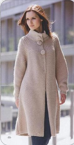 Hand Knit women's coat aran women's jacket women hand knitted dress sweater cardigan pullover women's clothing handmade wool cashmere - Knitting Factory - Shantou ZQ Sweater Factory - a knitwear manufacturer from China Crochet Cardigan, Knit Dress, Knit Crochet, Sweater Cardigan, Crochet Woman, Irish Crochet, Long Cardigan, Coats For Women, Jackets For Women